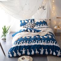 御目 床上用品 美式纯棉床盖三件套全棉绗缝床盖毯子四季通用空调夏被薄被子枕套家居用品