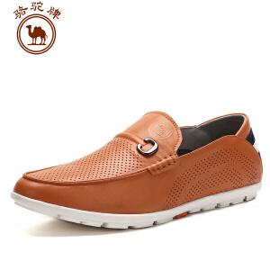 骆驼牌 春夏季新款男鞋 流行纯色男鞋 套脚低帮鞋 日常休闲鞋