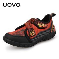 【满200减100】UOVO2017秋季新款儿童运动鞋男童鞋搭扣休闲鞋透气中小童童鞋 火花
