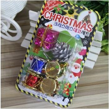 圣诞树装饰品 星星松果立体幼儿园节日吊顶挂饰