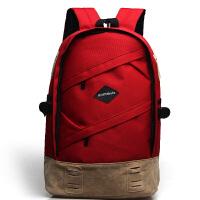 【支持礼品卡支付】soundbyte 韩版英伦风双肩包五色可选男女中学生书包帆布休闲旅行电脑背包