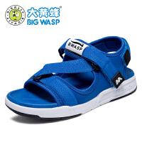 大黄蜂男童凉鞋夏季2017新款3--12岁儿童沙滩鞋