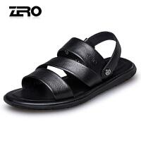 Zero零度男士真皮凉鞋夏季新款男鞋休闲鞋凉拖两用耐磨防滑沙滩鞋R72076