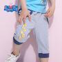 小猪佩奇童装正版授权2017夏季新款乔治男童轻薄纯棉休闲裤七分裤