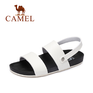 camel骆驼女鞋 2017夏季新款 休闲百搭低跟罗马凉鞋 平底凉鞋