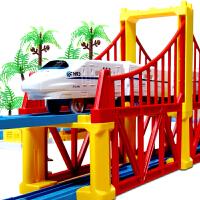 电动轨道车和谐号高铁双层小火车玩具儿童益智拼搭男孩2-3-6岁