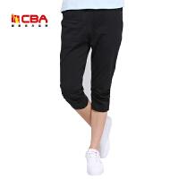【618狂嗨继续】CBA女子运动七分裤夏季纯棉透气舒适修身运动短裤中长裤休闲裤女