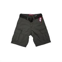 LEE短裤男夏天 新款男士宽松休闲短裤青年工装短裤 送腰带