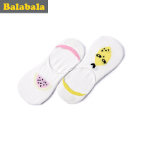 巴拉巴拉童装女童袜子中大童童袜2017夏季新款袜儿童船袜女2双装