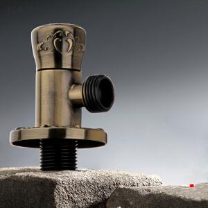 居逸古铜雕花角阀全铜八字阀冷热水通用止水阀三角阀GE5002014