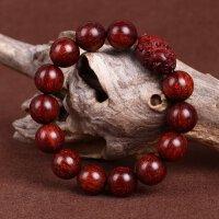 缘饰传说 小叶紫檀佛珠手串15mm精雕老料貔貅 高密顺纹油润男款把玩件木质手链