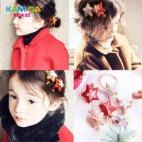 咔米嗒韩版儿童发饰小女孩可爱发夹星星公主皮筋宝宝女童头饰不伤发皮筋