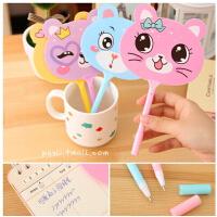日韩国小清新可爱动物扇子圆珠笔0.5 创意文具 学生礼物奖品 (颜色*)