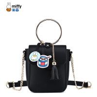Miffy/米菲女包小包包2017新款斜挎包女韩版单肩包迷你链条小方包