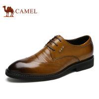 camel骆驼男鞋 春季商务正装 皮鞋舒适牛皮系带男士皮鞋
