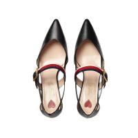 Gucci古驰女士真皮竹节跟高跟鞋460114 红色 37码