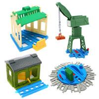 六一礼品托马斯电动火车系列车库组合配件轨道配件男孩礼物儿童玩具