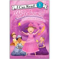 原版儿童英文绘本I Can Read  Pinkalicious 粉红控系列之 The Princess of Pink Slumber Party 睡衣晚会的粉红色公主 送音频请联系客服