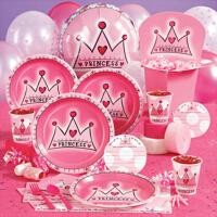 孩派 儿童生日派对用品 生日派对用品 公主粉皇冠主题系列
