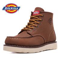 Dickies新款男士高帮头层牛皮工装鞋商务休闲男靴164M50LXS36