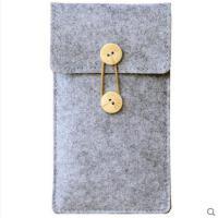 潮流时尚气质百搭小巧便携小米MAX三星S7EDGE羊毛毡数码收纳整理包6.5寸手机 手机包