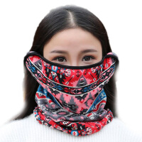 冬季口罩耳罩围脖三合一户外骑车护颈防寒保暖面罩女
