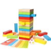 木制玩具亲子互动桌游戏  儿童叠叠乐层层叠高抽抽积木木条