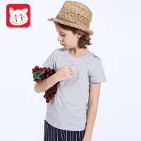 小猪班纳男童短袖T恤中大童短袖上衣2017夏装新款童装儿童打底衫男潮纯棉