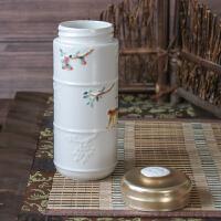 乾唐轩活瓷杯 正品 彩绘猴来居上随身杯 双层陶瓷水杯子带盖新年礼物