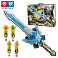 奥迪双钻儿童玩具 铠甲勇士雅塔莱斯 天地雷霆J豪华套装玩具566013