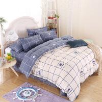 御目 床上用品 全棉夹棉床裙三件套纯棉四季通用单人双人床罩床单枕套单件1.2/1.5m/1.8米婚庆床品床盖套件家居用品