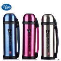 迪士尼大容量保温杯 1100ML便携旅行壶 不锈钢单手柄水壶