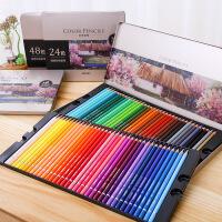 全国包邮 (跨店每满59减20)得力油性彩色铅笔 学生涂色彩铅手绘专业美术绘画笔套装