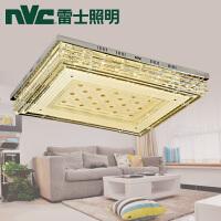 雷士照明LED水晶灯长方形客厅吸顶灯具现代简约调光灯饰大气温馨