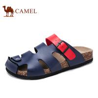 骆驼牌男鞋 2017夏季新品日常时尚休闲轻便包头舒适沙滩凉拖鞋