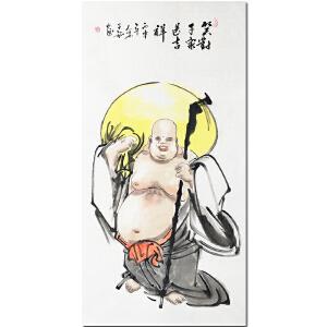 中国工艺美术协会会员,河南美协会员王铭《笑对千家送吉祥》