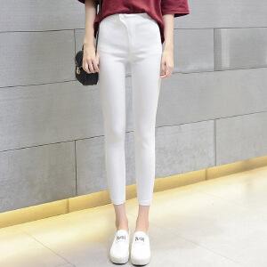夏季薄款韩版高腰薄款紧身弹力显瘦铅笔裤九分小脚裤打底裤外穿女LB602