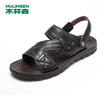 木林森男鞋凉鞋 夏季休闲男士凉鞋子 韩版休闲耐磨透气沙滩鞋21522093