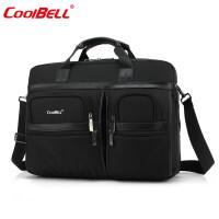 cool bell电脑包15.6英寸17英寸笔记本包17.3英寸大容量外星人防震商务包15寸手提单肩包