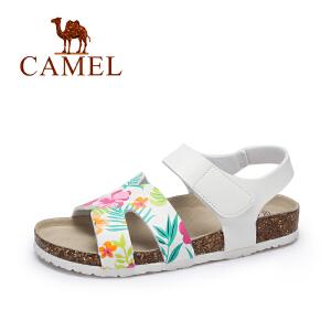 Camel/骆驼女鞋 2017夏季新款 防滑耐磨轻便沙滩鞋 休闲百搭凉鞋