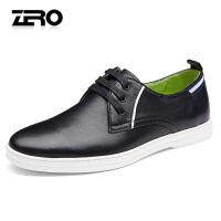 Zero零度男鞋 新款休闲皮鞋男英伦系带真皮单鞋子软皮镂空休闲鞋R71043
