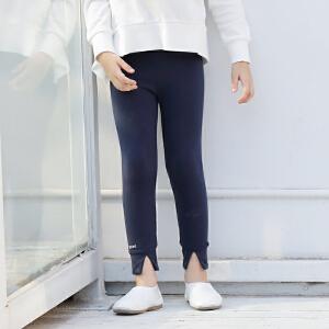 amii童装2017春新款中大童儿童脚口开叉特色弹力舒适百搭打底裤