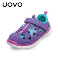 UOVO 新款2017春夏季儿童男童女童凉鞋休闲鞋包头镂空鞋 科罗拉多