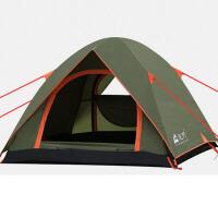 野外双层大帐篷3-4人户外帐篷 家庭旅游防雨野营套装