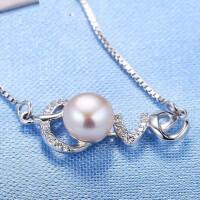 925银饰品女简约颈链配饰百搭珍珠甜美短款项链女装饰品