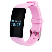 智能心率手环运动计步来电提醒手表睡眠监测防水安卓苹果IOS 粉
