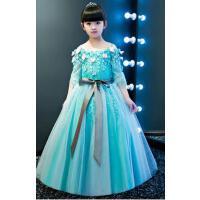儿童礼服公主裙 婚纱夏季花童礼服裙女童六一主持钢琴走秀演出服