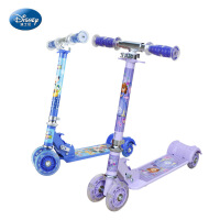 迪士尼儿童滑板车四轮可折叠踏板车3-6宝宝闪光滑轮车
