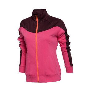 李宁2016新款秋季女装 训练运动长袖时尚开衫无帽卫衣外套AWDL108
