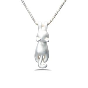 芭法娜 调皮猫 时尚合金镀哑银吊坠 趴趴猫造型 时尚可爱